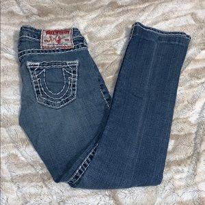 True Religion low rise jeans. Size 24. Rare.